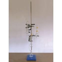 Апарат за анализ на серен диоксид по метода на Франц Паул (класически апарат)