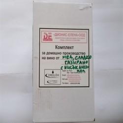 Комплект за домашно производство на газирана медовина - нисък алкохол, сладка